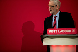 © Licensed to London News Pictures . 22/03/2018. Manchester, UK. JEREMY CORBYN and Shadow Cabinet members launch the Labour Party's local election campaign at Stretford Sports Village in Trafford . Photo credit: Joel Goodman/LNP