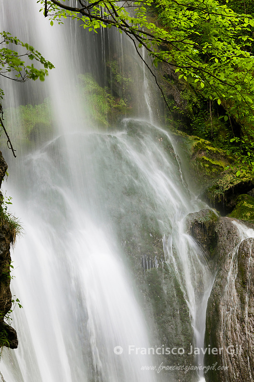 Waterfall in Autoire, Lot department, Occitanie, France