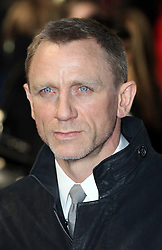 Daniel Craig arriving for the premiere of his new film The Girl With The Dragon Tattoo,  in London, Monday 12th December 2011. Photo by: Stephen Lock / i-Images<br />