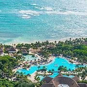 Aerial view of the Grand Palladium Resort. Akumal, Riviera Maya, Mexico.