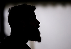 CARDIFF, WALES - Monday, September 3, 2018: A silhouette of Wales' Joe Ledley during a training session at the Vale Resort ahead of the UEFA Nations League Group Stage League B Group 4 match between Wales and Republic of Ireland. (Pic by David Rawcliffe/Propaganda)