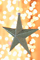 Christmas star ornament close-up