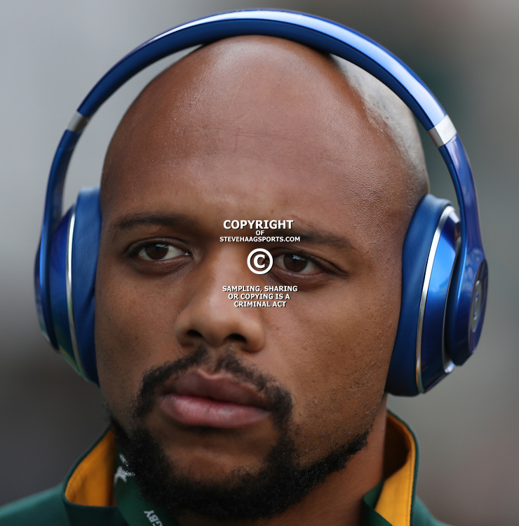 DURBAN, SOUTH AFRICA, 8 October, 2016 -Lionel Mapoe of South Africa during the Rugby Championship match between South Africa and New Zealand at Kings Park in Durban, South Africa. (Photo by Steve Haag)