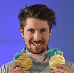 18.02.2018, Austria House, Pyeongchang, KOR, PyeongChang 2018, Medaillenfeier, im Bild Marcel Hirscher // during a medal celebration of the Pyeongchang 2018 Winter Olympic Games at the Austria House in Pyeongchang, South Korea on 2018/02/18. EXPA Pictures © 2018, PhotoCredit: EXPA/ Erich Spiess