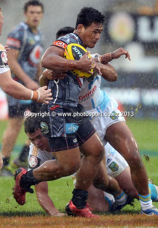 Solomone Kata. Holden Cup Rugby League match, Vodafone Junior Warriors v Junior Titans at Mt Smart Stadium, Auckland, New Zealand on Sunday 5 May 2013. Photo: Andrew Cornaga/Photosport.co.nz