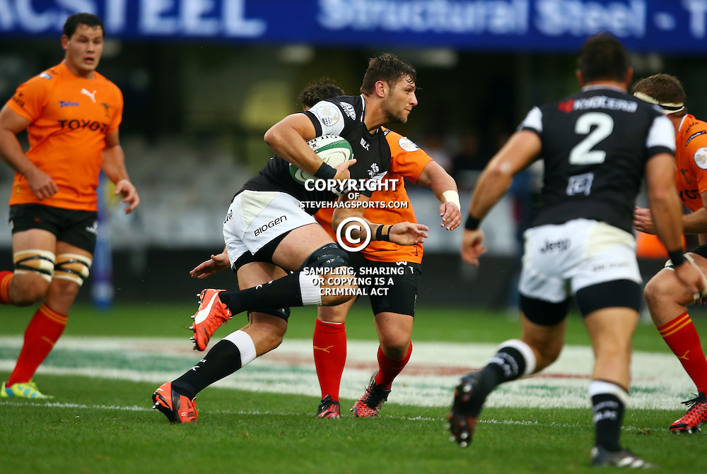 DURBAN, SOUTH AFRICA - SEPTEMBER 10: Ruan Botha of the Cell C Sharks during the Currie Cup match between the Cell C Sharks and Toyota Cheetahs at Growthpoint Kings Park on September 10, 2016 in Durban, South Africa. (Photo by Steve Haag/Gallo Images)