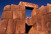 PERU, HIGHLANDS, CUZCO, INCA Sacsayhuaman; huge Inca fortress