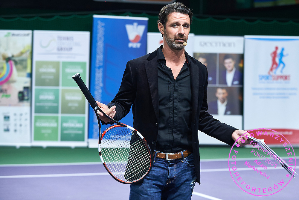 Patrick Mouratoglou trainer coach of Serena Williams speaks during PZT - Trainer's Conference of Polish Tennis Association at Mera Hall in Warsaw, Poland.<br /> <br /> Poland, Warsaw, November 28, 2015<br /> <br /> Picture also available in RAW (NEF) or TIFF format on special request.<br /> <br /> Any editorial, commercial or promotional use requires permission.<br /> <br /> Adam Nurkiewicz declares that he has no rights to the image of people at the photographs of his authorship.<br /> <br /> Mandatory credit:<br /> Photo by &copy; Adam Nurkiewicz / Mediasport