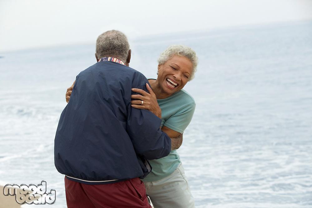 Frisky Mature Couple at Beach