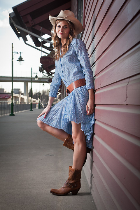 Model, Taylor Lee, for Second Run, on 2nd Avenue, Anchorage
