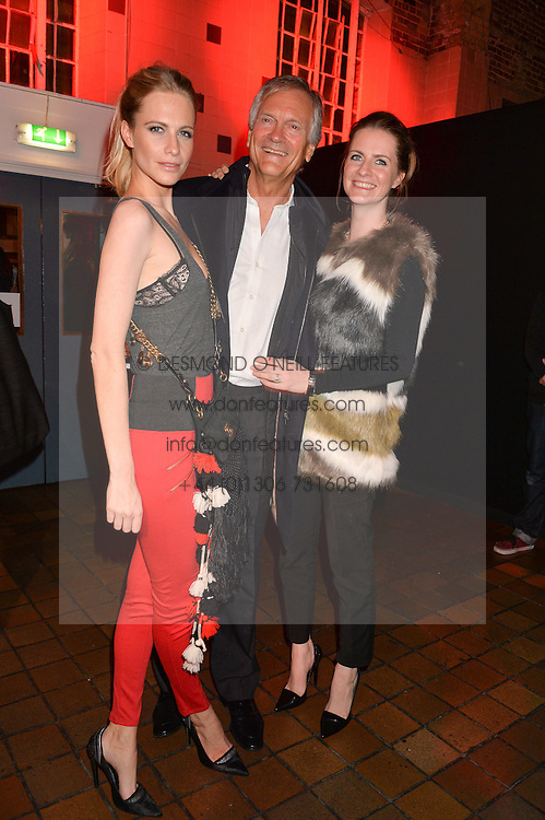 Left to right, POPPY DELEVINGNE, CHARLES DELEVINGNE and CHLOE DELEVINGNE at the YSL Beauty: YSL Loves Your Lips party held at The Boiler House,The Old Truman Brewery, Brick Lane,London on 20th January 2015.