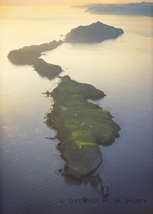 350607-1000 ~ Copyright: George H.H. Huey ~ Aerial view of Anacapa Island, Channel Islands National Park, California.