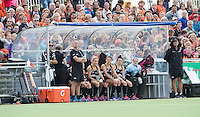 BERKEL EN RODENRIJS  (Neth) - HOCKEY - RABO SUPER SERIE  <br /> friendly match :The Netherlands v  New Zealand (w).  De dug out van NZL.       COPYRIGHT KOEN SUYK
