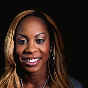 A portrait of Sanya Richards-Ross, USA, at the Adidas Grand Prix Press Conference, Hyatt Grand Central, New York ahead of he Adidas Grand Prix at Icahn Stadium, Randall's Island. Manhattan, New York. 23rd May 2012. Photo Tim Clayton