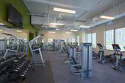 VA Architectural interior of Patriot Ridge fitness center by Jeffrey Sauers of Commercial Photographics