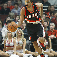 16 March 2012: Portland Trail Blazers small forward Nicolas Batum (88) brings the ball upcourt during the Portland Trail Blazers 100-89 victory over the Chicago Bulls at the United Center, Chicago, Illinois, USA.