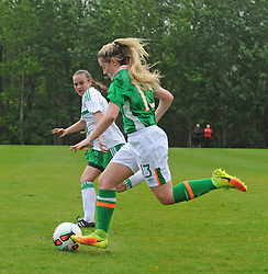 Action from the Republic of Ireland  v Northern Ireland fixture as part of the UEFA Women&rsquo;s U16 Tournament at United park Westport.<br /> Pic Conor McKeown