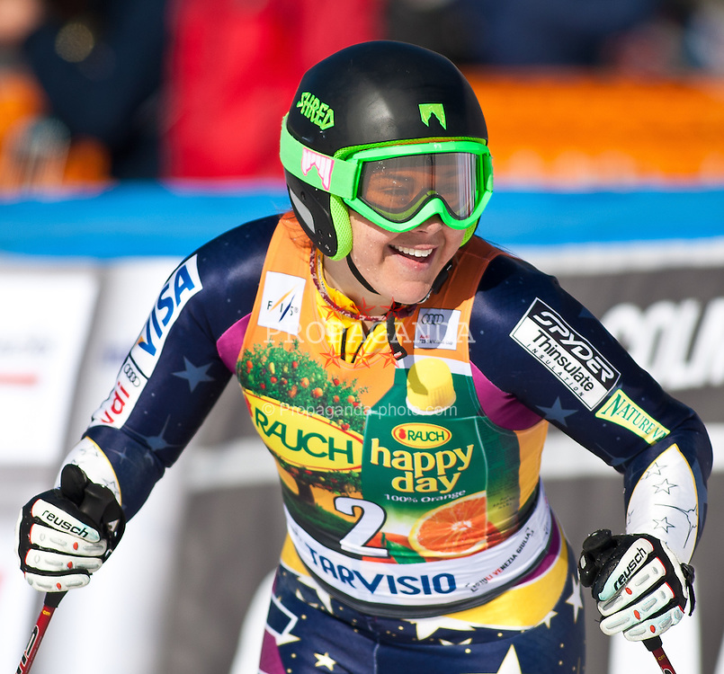 06.03.2011, Pista di Prampero, Tarvis, ITA, FIS Weltcup Ski Alpin, Abfahrt der Damen, im Bild Leanne Smith (USA, 11th place, ) during Ladie's Super-G FIS World Cup Alpin Ski in Tarvisio Italy on 6/3/2011. EXPA Pictures © 2011, PhotoCredit: EXPA/ G. Steinthaler