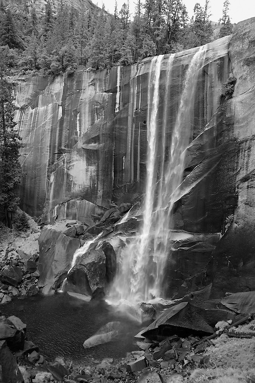 Vernal Falls - Autumn - Yosemite - Black & White
