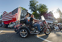 Bike Week Freedom Ride MIA/POW  in Laconia and Weirs Beach.  Karen Bobotas for the Laconia Daily Sun