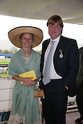 Mrs. Mike Lindsell and her brother Anthony Gordon Lennox, Glorious Goodwood. 2 August 2007.  -DO NOT ARCHIVE-© Copyright Photograph by Dafydd Jones. 248 Clapham Rd. London SW9 0PZ. Tel 0207 820 0771. www.dafjones.com.