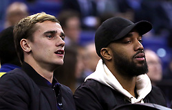 Antoine Griezmann and Alexandre Lacazette in the crowd during the NBA London Game 2018 at the O2 Arena, London.