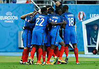 France goal celebration esultanza gol<br /> Paris 03-07-2016 Stade de France Football Euro2016 France - Iceland / Francia - Islanda Quarter finals <br /> Foto Matteo Ciambelli / Insidefoto