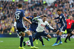 Dele Alli of Tottenham Hotspur goes down under a challenge - Mandatory by-line: Arron Gent/JMP - 19/10/2019 - FOOTBALL - Tottenham Hotspur Stadium - London, England - Tottenham Hotspur v Watford - Premier League