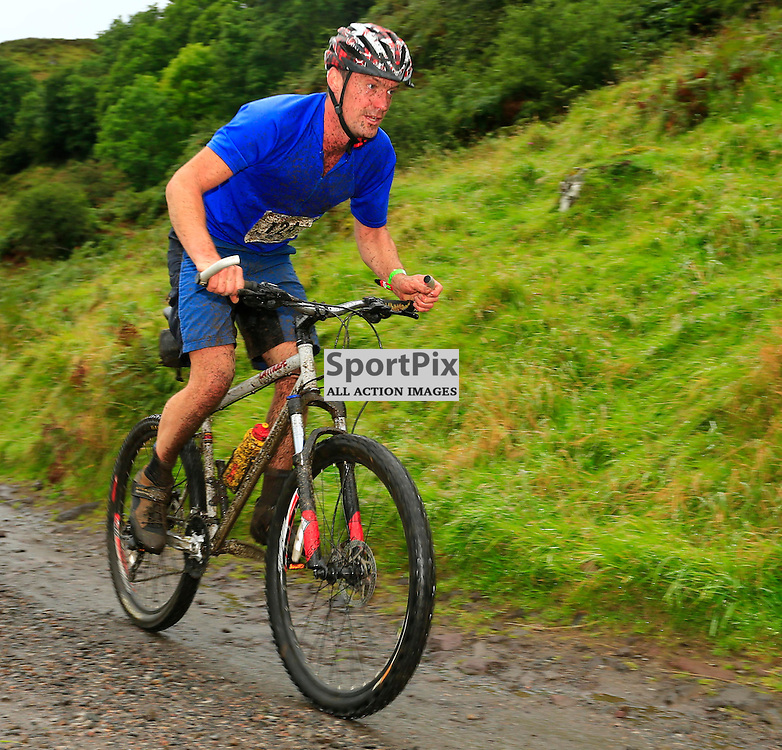 Craggy Island Triathlon, Isle of Kerrera..Andrew Pitchforth on the cycle section of triathlon..(c) STEPHEN LAWSON | StockPix.eu