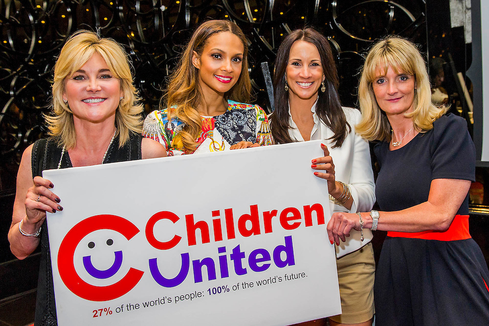 "Anthea Turner, Alesha, Andrea Maclean and Nicky Cox, editor of First News  - Alesha Dixon launches Children United and the ""We Are The Children United"" single. Alesha is the most well-known name on the single, the first voice you hear on the song is that of 12-year-old Patience who lives in a children's home in Uganda after losing most of her family to AIDS. The pair are joined by thousands more children from countries as far flung as Kenya, Australia, India, USA, Uganda, The Netherlands and Norway who all feature on the Children United single. More countries and more children are joining the ""world's biggest pop group"" every day and posting their recordings on YouTube. The song was written by Barney Cox and produced by Nigel Wright.<br /> Around 10,000 children's voices are on the song including 6,500 children from the Voice In A Million choir<br /> who performed the song live at Wembley with Alesha in March.<br /> <br /> Children United is an online platform which will bring children together from across the globe to discuss the issues that matter to them, and provide them with the opportunity to have their voices heard. The three founding partner organisations are First News, Achievement for All, and Skoolbo. They have been working with Microsoft to support the web development and integration of Skype technology that will connect children across the world in face-to-face conversations. Save the Children are the charity's key NGO partner.<br /> <br /> The Children United website, which encourages children around the world to ""join-up"" and be heard, opens for<br /> registration on Wednesday (15 April) and goes fully live and interactive in September. The site will be moderated<br /> by schools around the world to ensure a secure environment for children to talk to each other safely."