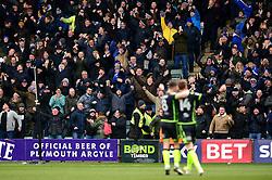 Bristol Rovers fans celebrate as Chris Lines celebrates scoring  - Mandatory by-line: Dougie Allward/JMP - 17/03/2018 - FOOTBALL - Home Park - Plymouth, England - Plymouth Argyle v Bristol Rovers - Sky Bet League One