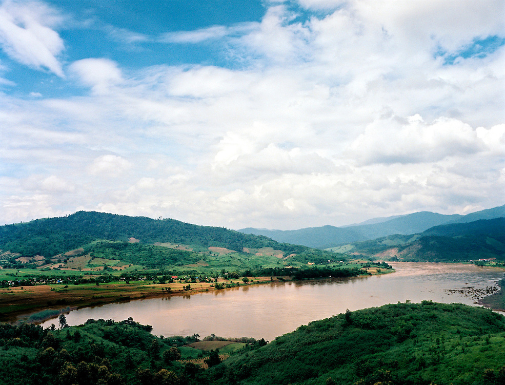 The Mekong river separating Laos and Thailand