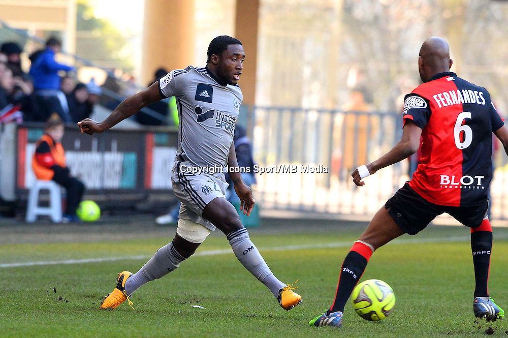 Brice DJA DJEDJE - 07.02.2015 - Rennes / Marseille - 24eme journee de Ligue 1<br /> Photo : Gaston Petrelli / Icon Sport