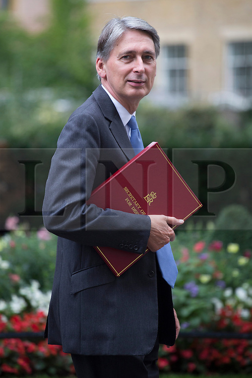 © licensed to London News Pictures. London, UK 03/09/2013. Philip Hammond, Secretary of State for Defence attending the Cabinet meeting in Downing Street on Tuesday, September 3, 2013. Photo credit: Tolga Akmen/LNP