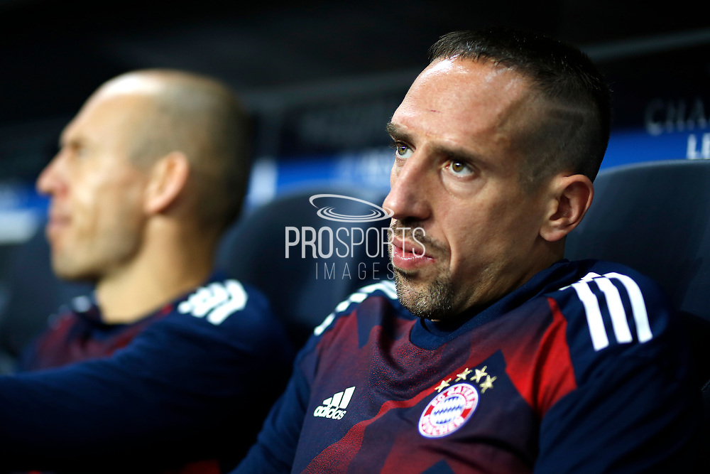 Bayern Munich's French midfielder Franck Ribery sits on the bench during the UEFA Champions League, Group B football match between Paris Saint-Germain and Bayern Munich on September 27, 2017 at the Parc des Princes stadium in Paris, France - Photo Benjamin Cremel / ProSportsImages / DPPI