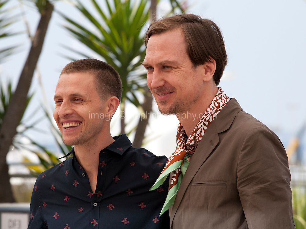 Actors Actors Anders Danielsen Lie and Lars Eidinger at the Personal Shopper film photo call at the 69th Cannes Film Festival Tuesday 17th May 2016, Cannes, France. Photography: Doreen Kennedy