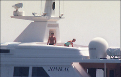 File photo of Lady Diana, Princess of Wales, with boyfriend Dodi Al Fayed spending their summer holiday in Saint-Tropez, south of France, on August 22, 1997. Princess Diana died on August 31, 1997 after suffering fatal injuries in a car crash in the Pont de l'Alma road tunnel in Paris. Her companion Dodi Fayed and driver and security guard Henri Paul were also killed in the crash. Photo by ABACAPRESS.COM  Diana of Wales Princesse Diana Princesse de Galles Diana de Galles Princess Diana of Wales Princess Diana Lady Dian Lady Diana Lady Di Princesse Diana de Galles Princess of Wales  | 594950_018 Saint-Tropez France