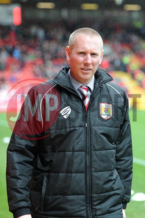 Bristol City media manager, Adam Baker - Photo mandatory by-line: Paul Knight/JMP - Mobile: 07966 386802 - 03/05/2015 - SPORT - Football - Bristol - Ashton Gate Stadium - Bristol City v Walsall - Sky Bet League One