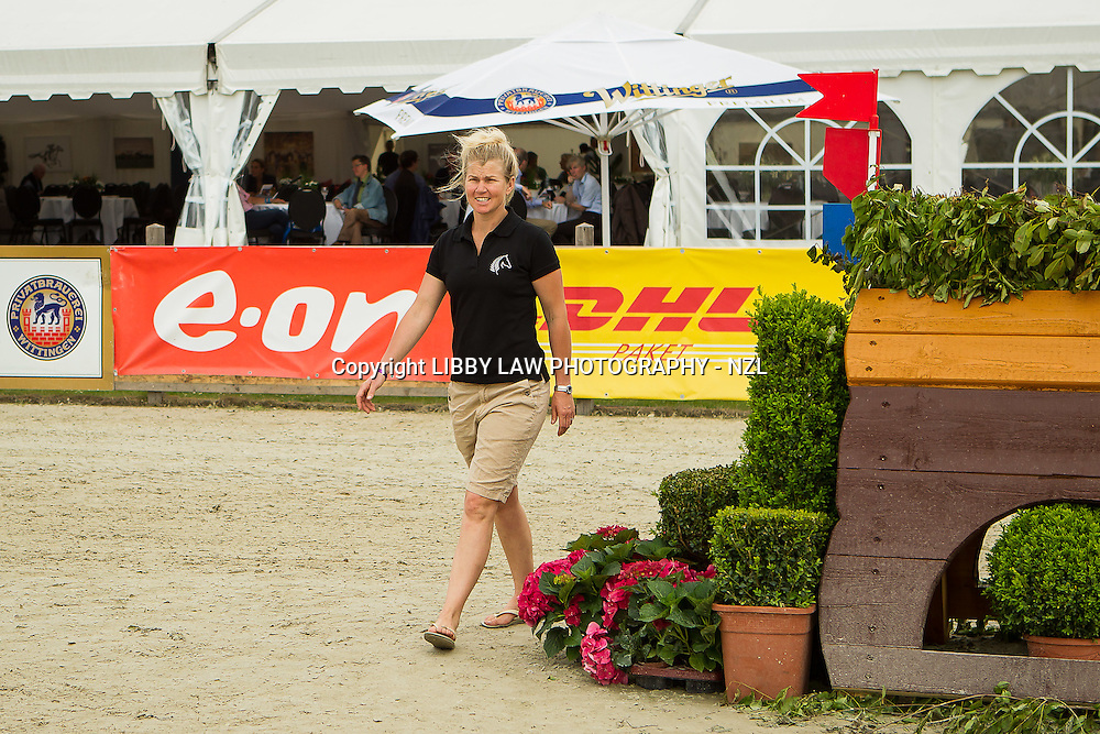 NZL-Jonelle Richards walks the CCI4* Cross Country Course: 2013 GER-DHL Luhmühlen International Horse Trial (Thursday 13 June) CREDIT: Libby Law  COPYRIGHT: LIBBY LAW PHOTOGRAPHY - NZL