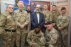 Image ©Licensed to i-Images Picture Agency. 20/02/2015. Nottingham, United Kingdom. Army Recruitment visit Nottingham Mosque during Fri Prayers. Karima Centre (Mosque). Picture by Terry Harris / i-Images