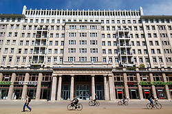 Stalinist architecture of apartment building on Karl Marx Allee in Berlin Germany