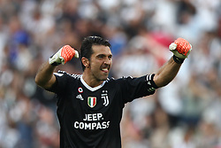 August 19, 2017 - Turin, Italy - Buffon celebrates during the Serie A football match n.1 JUVENTUS - CAGLIARI on 19/08/2017 at the Allianz Stadium in Turin, Italy. (Credit Image: © Matteo Bottanelli/NurPhoto via ZUMA Press)