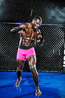 "MMA fighter Phil ""Mr. Wonderful"" Davis poses for portrait shoot in San Diego CA on December 12, 2012."