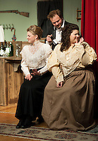 """At night at Ye Olde Wayside Inn during dress rehearsal for """"It Was a Dark and Stormy Night"""" with the Streetcar Company on Tuesday, October 16, 2012.  (Karen Bobotas/for the Laconia Daily Sun)"""