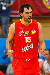 15.08.2010, Logroo, ESP, Friendly Basketball LS, Spain vs Argentia, im Bild Spain's Jorge Garbajosa celebrates during Friendly match. EXPA Pictures © 2010, PhotoCredit: EXPA/ Alterphotos/ Acero +++++ ATTENTION - OUT OF SPAIN +++++