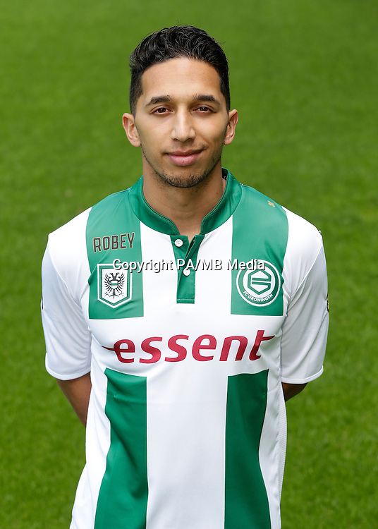 Tom Hiariej of FC Groningen during the team presentation of FC Groningen on June 29, 2015 at the Euroborg in Groningen, The Netherlands.