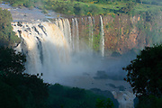 TISSISAT, GOJJAM/ETHIOPIA..Waterfalls of the Blue Nile, approyimately 35kms downriver from its origin at Bahar Dar/Lake Tana..(Photo by Heimo Aga)