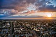 Sunrise Over Surf City Huntington Beach