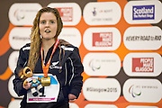 Nikita Howard of New Zealand wins gold in the Women's 50m Butterly S7. 2015 IPC Swimming World Championships - Tollcross Swimming Centre, Glasgow, Scotland. Photo credit: Luc Percival Photography.