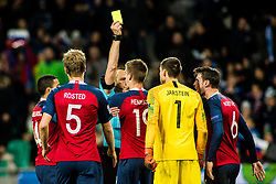Umpire Ruddy Buquet of France during football match between National Teams of Slovenia and Norwey in UEFA Nations League 2019, on November 16, 2018 in SRC Stozice, Ljubljana, Slovenia. Photo by Grega Valancic / Sportida
